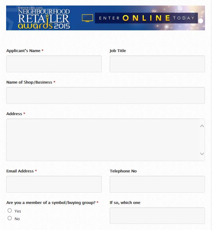 Retailer form