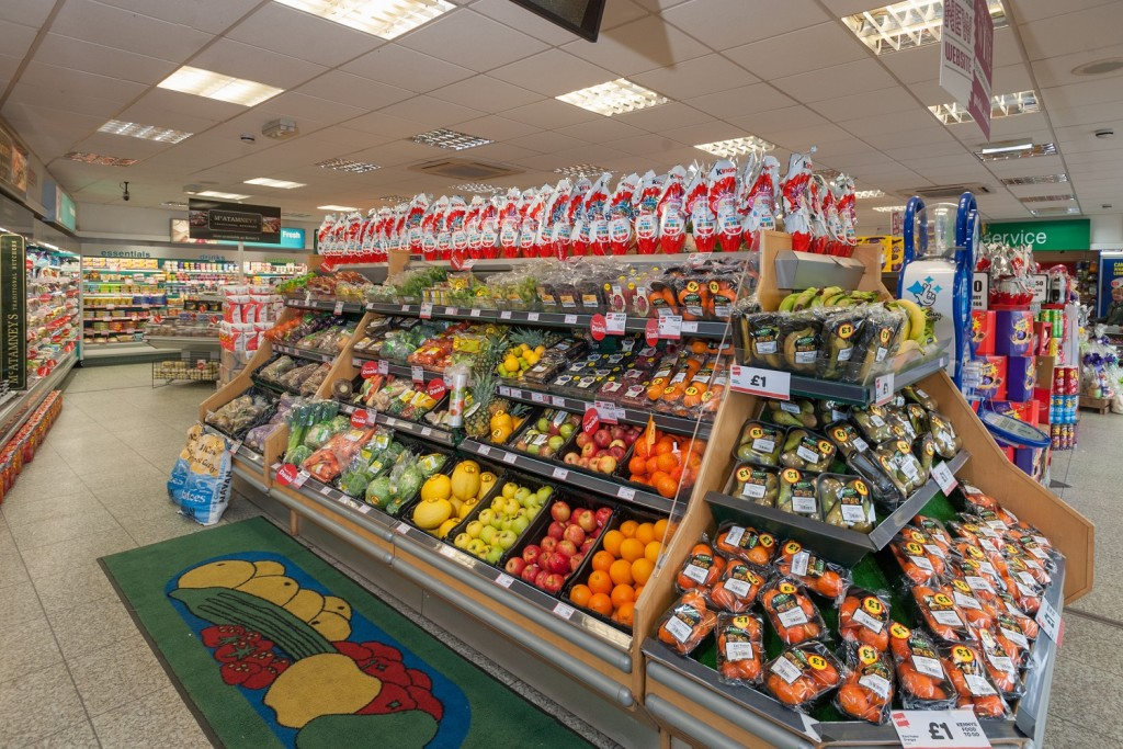 The store's fruit and vegetable offer