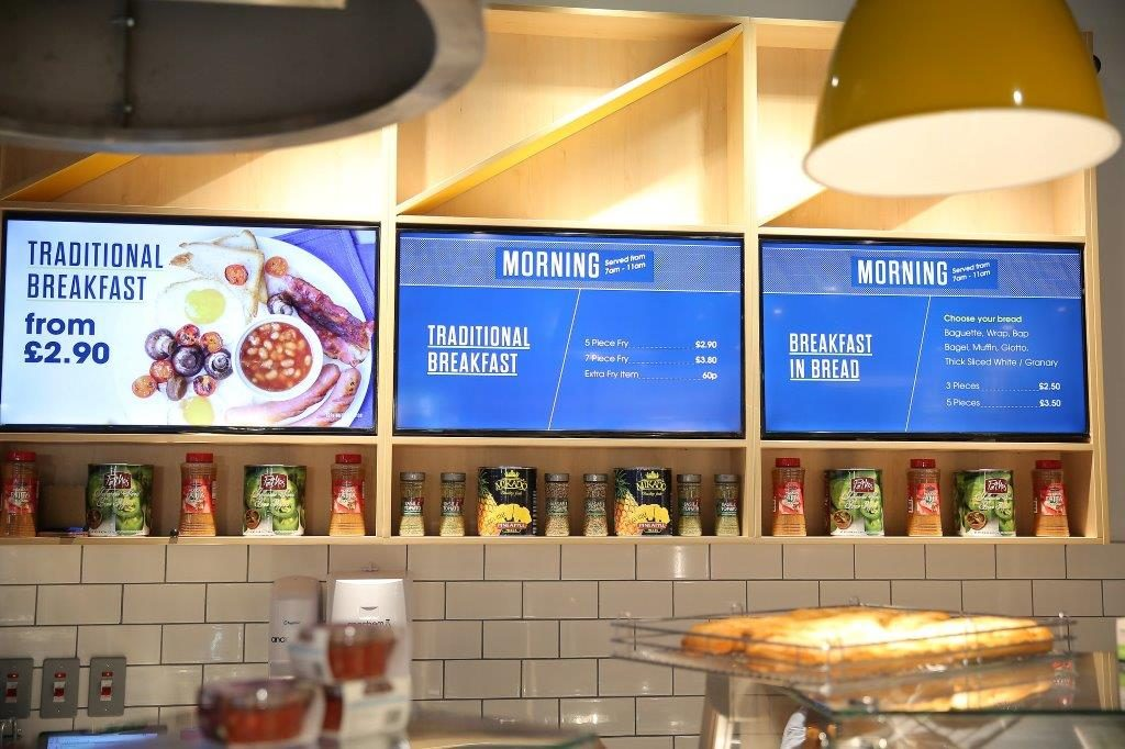 The deli's hi-tech menu screen